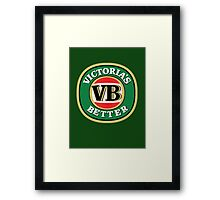 Victoria's Better - Updated Version (better quality) Framed Print