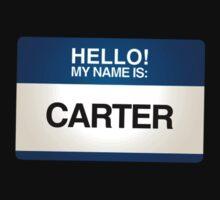 NAMETAG TEES - CARTER by webart
