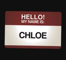 NAMETAG TEES - CHLOE by webart