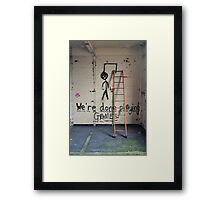 Message on a wall Framed Print