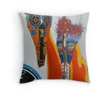 palm boots Throw Pillow