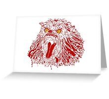 Keep Off The Moors (Red Variant) Greeting Card