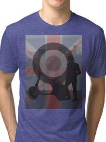 Retro scooter boy Tri-blend T-Shirt
