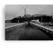Cold desolate pier Canvas Print