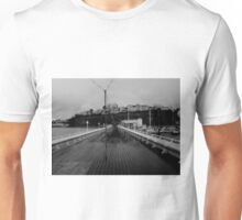 Cold desolate pier Unisex T-Shirt