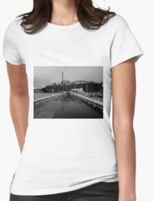 Cold desolate pier Womens Fitted T-Shirt