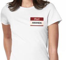 NAMETAG TEES - AMANDA Womens Fitted T-Shirt