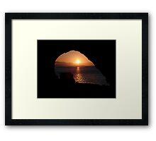 """Sunset through a keyhole"" Framed Print"