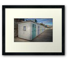 Beach Huts at Lyme Regis Framed Print