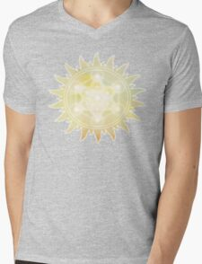 Sacred Geometry: Metron's Cube - Sun Mens V-Neck T-Shirt
