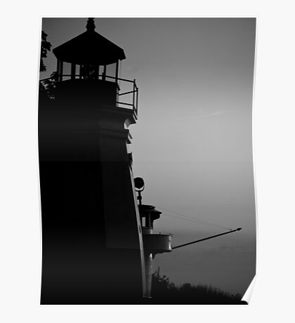 """""""Harbor Town Silhouette"""" Poster"""