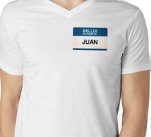 NAMETAG TEES - JUAN Mens V-Neck T-Shirt