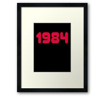 1984 - Born in the eighties - T-shirt Sweater & Top Framed Print