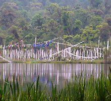 Sacred Lake Prayer Flags by BradBaker