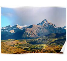 Evening light on the Sneffels Range Poster