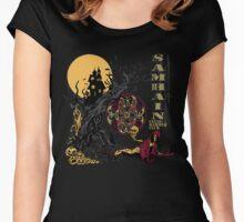 Samhain (Halloween) Creepy Scene Women's Fitted Scoop T-Shirt