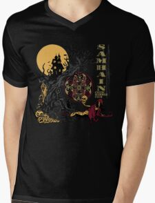 Samhain (Halloween) Creepy Scene Mens V-Neck T-Shirt