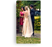 The beautiful gown Canvas Print