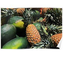 Pineapples and Watermelon Poster
