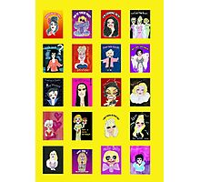 Demented Diva Assembled Cast - Yellow Photographic Print