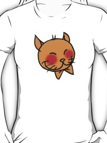 Fun orange cat face cartoon T-Shirt