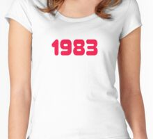 1983 - Born in the eighties - T-shirt Sweater, Top & Sticker Women's Fitted Scoop T-Shirt