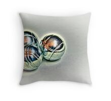 Carpet Boules Throw Pillow