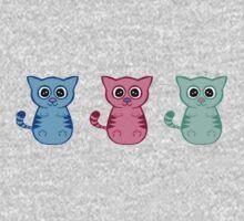 Three Sleepy Kittens One Piece - Short Sleeve