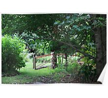 Garden Setting a place to forget your problems Poster