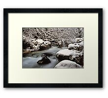 Zauberwald Stream - Winter 1985 Framed Print