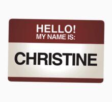 NAMETAG TEES - CHRISTINE by webart