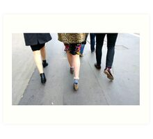 Fashion On The Move Art Print