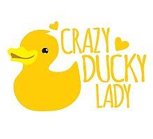 Crazy Ducky Lady Photographic Print