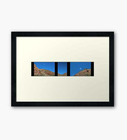 Moon Over the Ord Framed Print