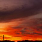 Texas Sky Ablaze by Cali Maxie
