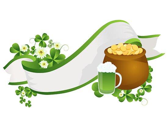 St. Patrick's Day ribbon by Richard Laschon