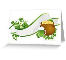 St. Patrick's Day ribbon Greeting Card