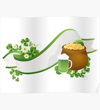 St. Patrick's Day ribbon Poster