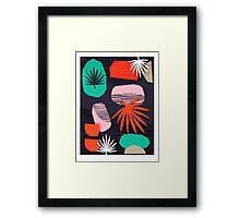 Dank - memphis style 80's throwback neon shape palm house plant retro vintage decor hipster art Framed Print