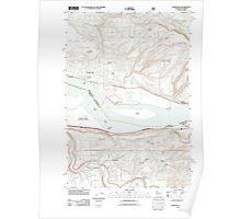 USGS Topo Map Washington Washougal 20110727 TM Poster