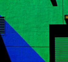 GREEN WALL WITH BLACK SHADOW by JOE CALLERI