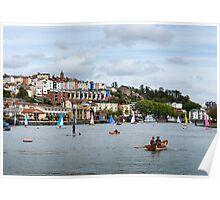 Always Busy on Bristol's Harbourside Poster