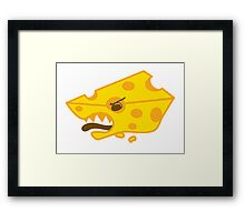 Crazy angry swiss cheese Framed Print