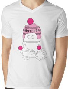 Robots in Disguises - Amsterdam Bot Mens V-Neck T-Shirt