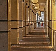 Gold colonnade by awefaul