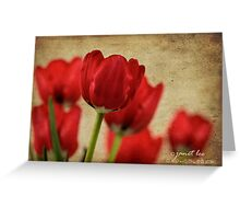 tulipes rouges Greeting Card