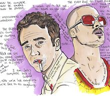 FightClub - Tyler Durden - Brad Pitt - Ed Norton by Matty723