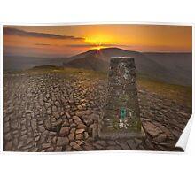 Mam Tor Sunset Pt 1 Poster