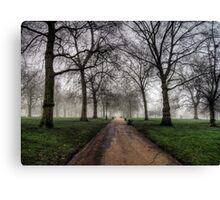 Fog in Green Park, London Canvas Print
