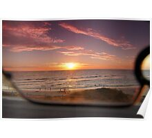 Experimental sunset through sunglasses Poster